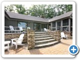 Back patio of Timber Peg Lodge by Lake Norman Luxury Rentals