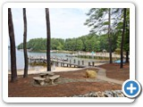 The dock at Timber Peg Lodge by Lake Norman Luxury Rentals