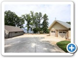 Driveway for Timber Peg Lodge by Lake Norman Luxury Rentals