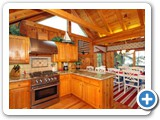 Kitchen in Timber Peg Lodge by Lake Norman Luxury Rentals