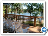 Deck at Lake Norman Lake Living Vacation Home.