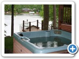 The hottub at Lakeside Lodge by Lake Norman Luxury Rentals