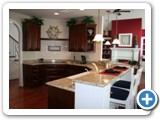 The Kitchen at Luxury On The Lake by Lake Norman Luxury Rentals