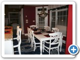The dining room at Luxury On The Lake by Lake Norman Luxury Rentals