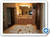 Bath room at Luxury On The Lake by Lake Norman Luxury Rentals